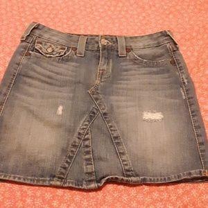 NEW true religion jean skirt!!!